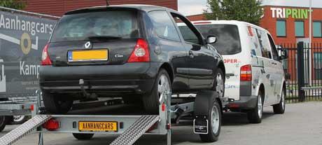 Autotransporter aanhangwagens voor het vervoer van auto's