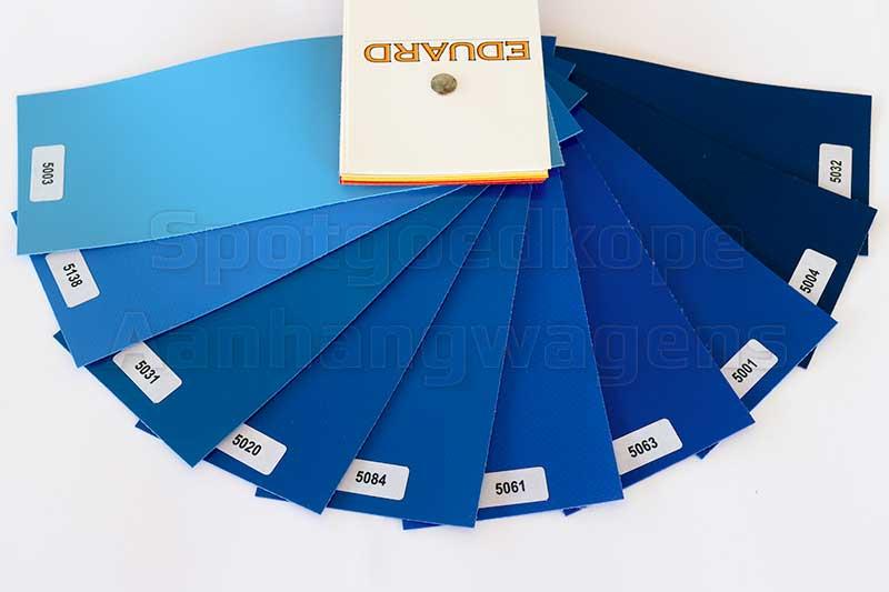 Leverbare blauwe kleuren van huiven voor Eduard Trailer