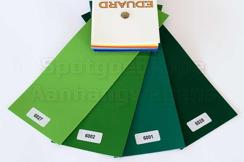 Leverbare groene kleuren van huiven voor Eduard Trailer