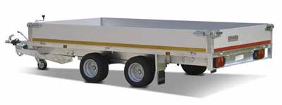 Eduard tandemas plateauwagen met aluminium laadborden