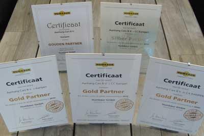 Humbaur Gold Partner dealer certificaat