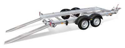 Humbaur Imola autotransporter met oprijplaten