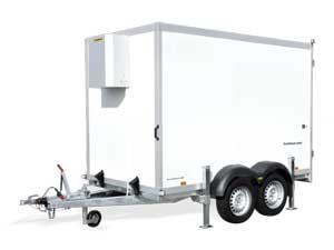 Humbaur tandemas gesloten koelwagen