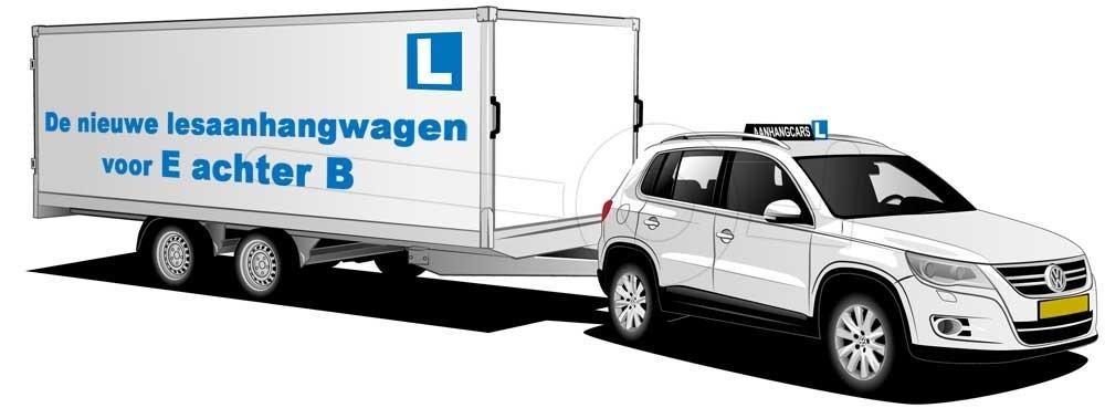 Nieuwe lesaanhangwagen voor rijopleiding E achter B