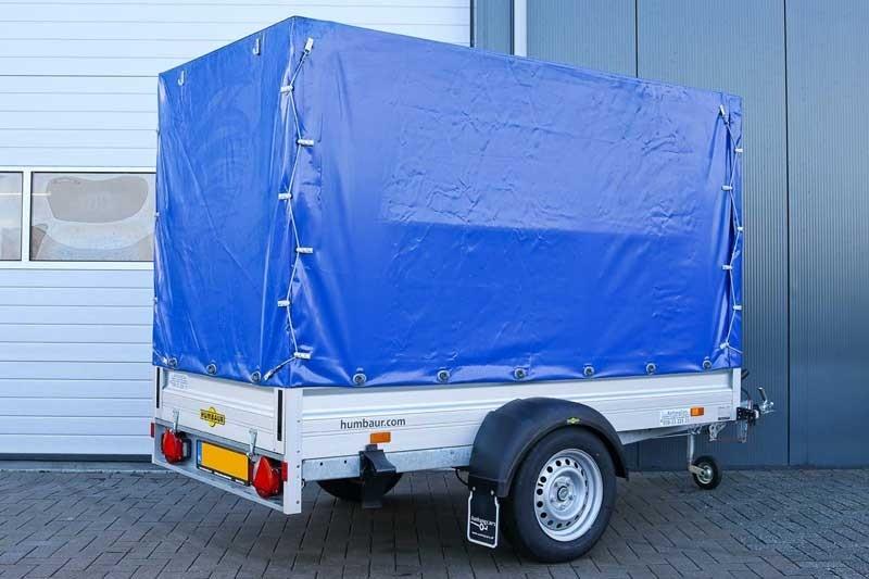 Humbaur aluminium bakwagen met huif