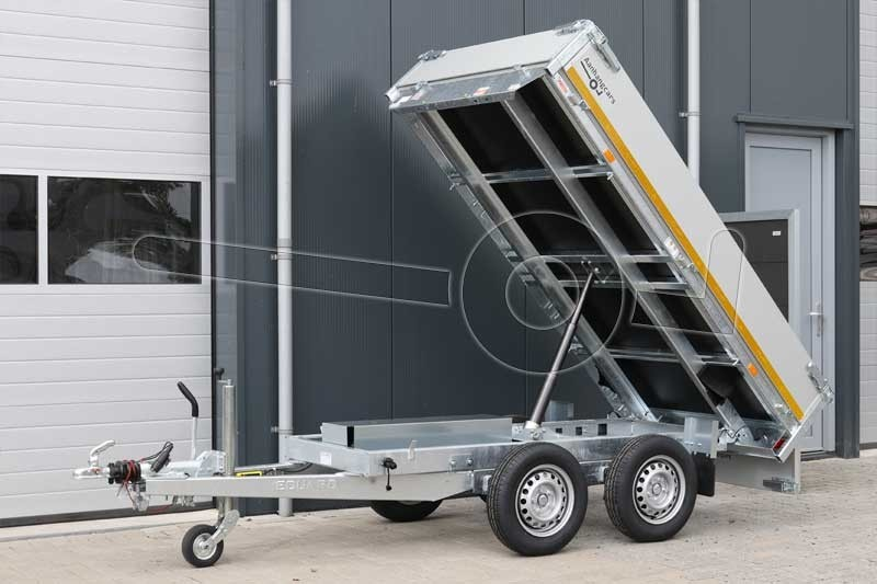 Eduard achterwaartse kipper 260x150cm 2000kg elektrische bediening