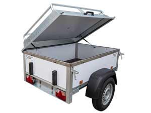 Power Trailer bagagewagen met deksel