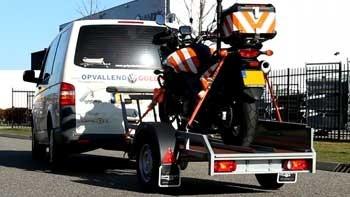 Video demonstratie Twins Trailers motortrailer voor één motorfiets